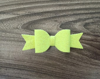 Neon Yellow Hair Bow