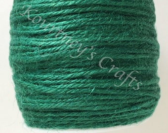 2mm Dark Green Jute Twine Cord Non-Polished 2mm 100M/Roll (Approx. 109 Yard)
