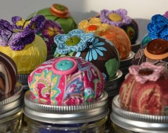 Ball Jar Pincushion Mending Sewing Kit