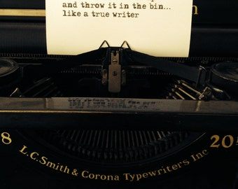 Vintage typewriter/ Quirky photography/ Sepia photography/ Comical photo/ Writer's photo/ Gift for a writer/ Memorabilia/ Vintage style