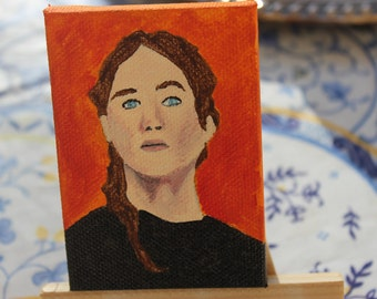 Mini Katniss Painting