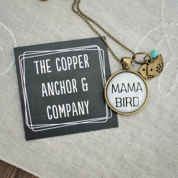 New Mom, Mama Bird Jewelry, Mommy Necklace, Custom Necklace, Personalized Jewelry, Baby Necklace, Adoption, Mother and Children, Mothers Day