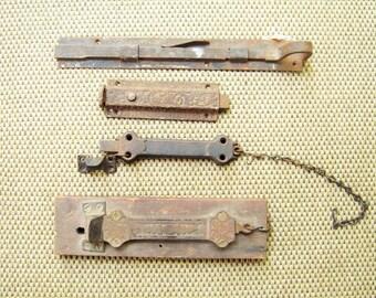 Victorian Iron Latches Four Antique