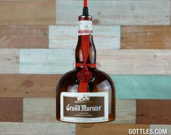 Upcycled Grand Marnier Liqueur Pendant Lamp
