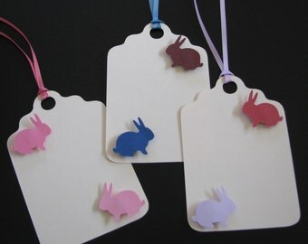 Handmade Paper Gift Tag Assortment - Easter Bunnies