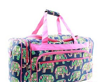 "20"" Elephant,Turtle,Crab  Duffel Bag  WITH FREE MONOGRAM"
