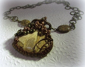 A Picture of Wood - Wire Wrapped Necklace