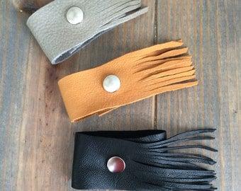 Fringe Leather Cuff