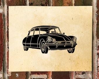 KillerBeeMoto:  Limited Print  Vintage French Engineered Car  1 of 50
