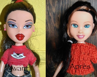 Little orphan doll, recycled Bratz