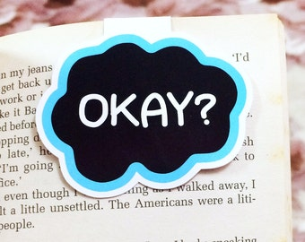 Cloud Magnetic Bookmark, Page Marker, The Fault in Our Star