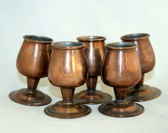Copper Communion Cup Candle Holder Vintage