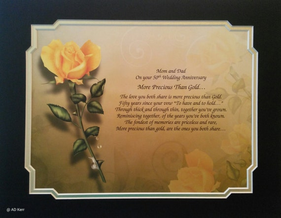 50th Wedding Anniversary Gift For Mom And Dad : 50th Anniversary Gift