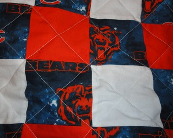 Chicago bears quilt | Etsy : chicago bears quilt - Adamdwight.com