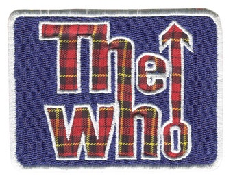 The Who patch badge MOD Lambretta Vespa Scooter Red Plaid Tartan
