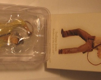 Rare, Indiana Jones films, HallMark Christmas ornament, MIB, Indiana with whip in action, handcrafted.