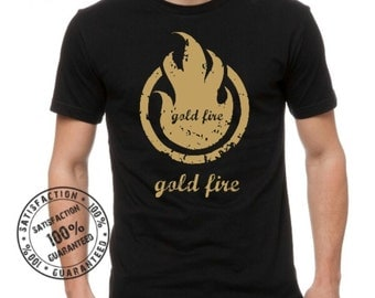 t shirt ''gold fire''
