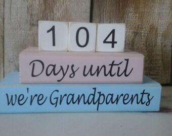 Days until we're grandparents countdown blocks