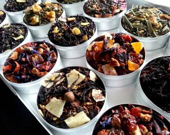 Premium ORGANIC teas, Birthday gift, mom gift, for her, chai tea, black tea, green tea, loose leaf tea, TEA SAMPLER, tea lover, 60 tea bags.