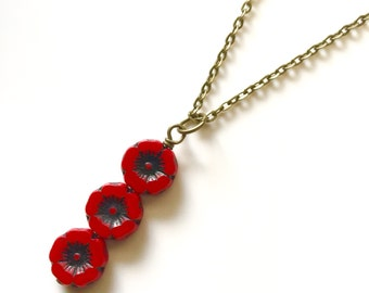 Poppy Pops - Trio drop necklace