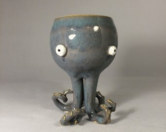 Otto the Squiddy Wine Goblet
