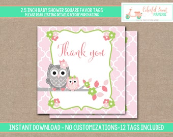 Owl Shower Favors, Owl Baby Shower Favors, Owl Baby Shower,  Owl Baby Shower Printables, Owl Favors, #0002