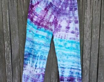 Ladies hippie tie dye yoga pants - L