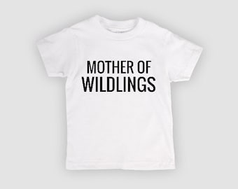 size down one size XS white Mother of WILDLINGS shirt