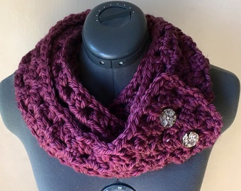 2- Button Infinity scarf