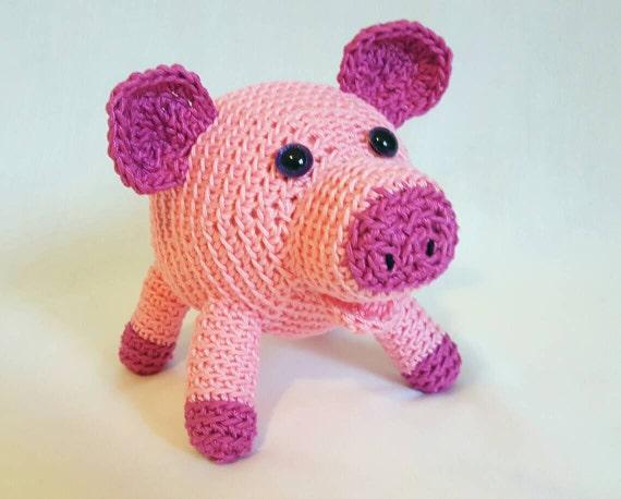 Amigurumi Stuffed Animals : Pig amigurumi stuffed animal