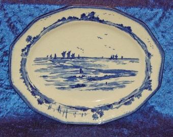 Royal Doulton Norfolk Pattern Oval Meat Platter C1901