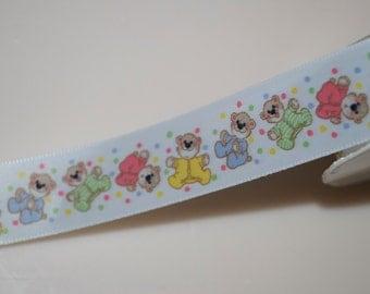 "Suzy's Zoo Baby Teddy Bear Ribbon 7/8"" Wide 2 Yards"