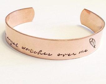Cuff bracelet - Copper bracelet - Hand stamped bracelet - Hand Stamped cuff bracelet - Custom bracelet - Personalized hand stamped jewelry