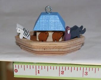 Wood Noahs Ark Ornament