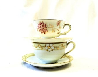 Instant Teacup Collection, Nippon and 1940s Japan, Chrysanthemum