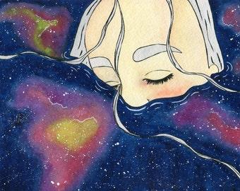 Fine Art Print : I'M DROWNING