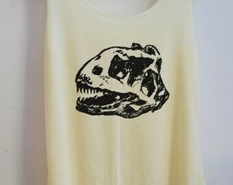 CLEARANCE Fossil Art Tank Top Shirt T-Shirt Animal Shirt Vintage Funny Shirt Tank Top Dinosaur T-Shirt Tunic Top Vest Size S,M,L