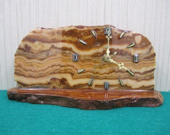 A very attractive marble decorative clock with base