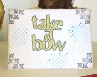Congratulations Take A Bow Handmade Card