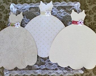 Large Die Cut Dress Form, Sizzix Fabi Dress Die-cut Wedding dress, Bridal Dress die cut dress embellishments Wedding Dress Invitations