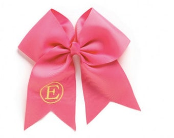 Monogrammed Hot Pink Wholesale Boutique Hair Bow