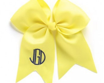 Monogrammed Yellow Wholesale Boutique Hair Bow