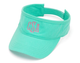 Mint Visor Hat with Monogram
