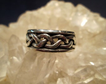 Mans Braided Wedding Band ~Sterling Silver~ Hand Cast