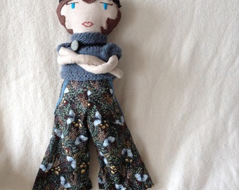 Folly Mae cloth doll / roaring twenties doll / heirloom gift for girl / waldorf-inspired cloth doll with accessories / ELOISE