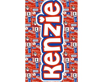 Cheer Personalized Beach Towel