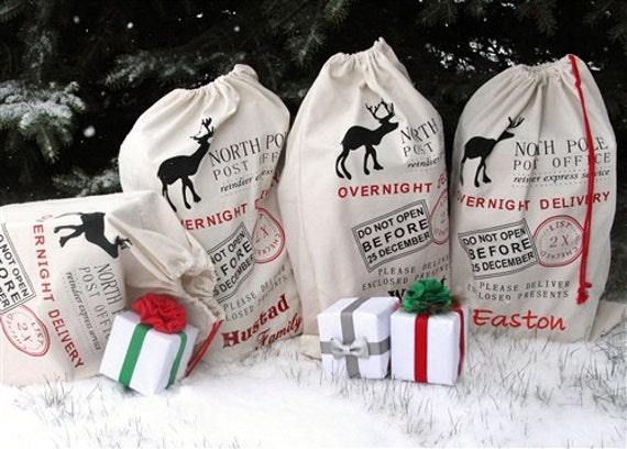 Sack Of Toys For Christmas : Personalized santa sack gift bag toy christmas
