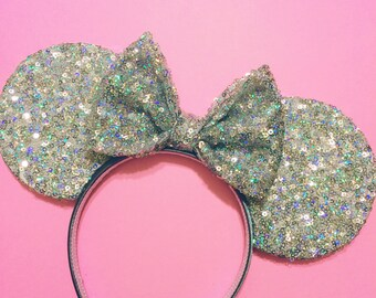 Twinkle Silver Sequin Mouse