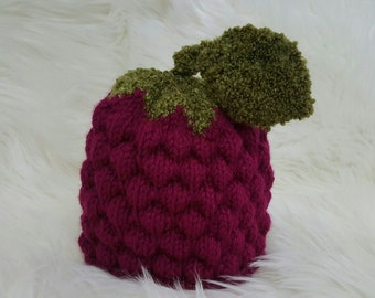 Handmade knit baby hat
