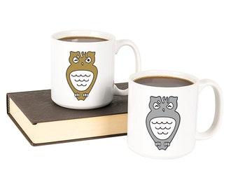 Owl 20 oz. Large Coffee Mug Set
